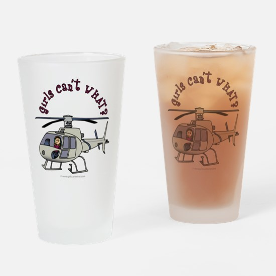 Light Helicopter Pilot Drinking Glass