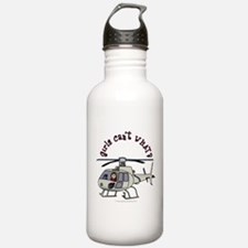 Light Helicopter Pilot Sports Water Bottle