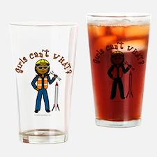 Dark Rocket Scientist Drinking Glass