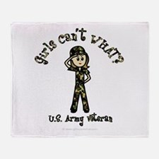 Light Army Veteran Throw Blanket