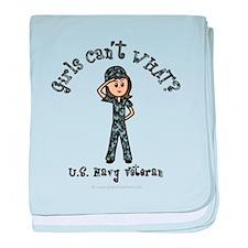 Light Navy Veteran (Blue Camo) baby blanket