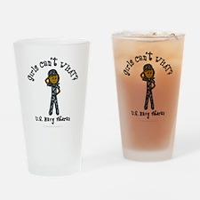 Dark Navy Veteran (Blue Camo) Drinking Glass