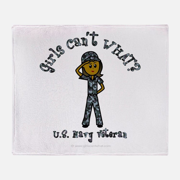 Dark Navy Veteran (Blue Camo) Throw Blanket