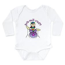 Light Girl Drummer Long Sleeve Infant Bodysuit