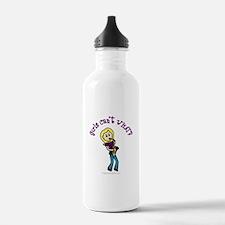 Blonde Saxophone Player Water Bottle