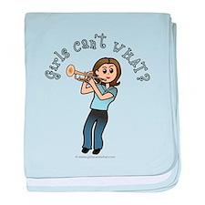 Light Trumpet Player baby blanket
