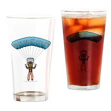 Dark Sky Diver Drinking Glass