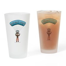 Blonde Sky Diver Drinking Glass