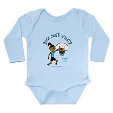 Basketball-Raegan Long Sleeve Infant Bodysuit