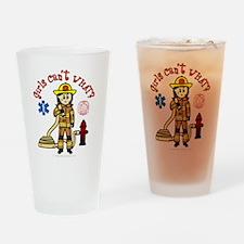 Custom Firefighter Drinking Glass