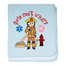 Custom Firefighter baby blanket