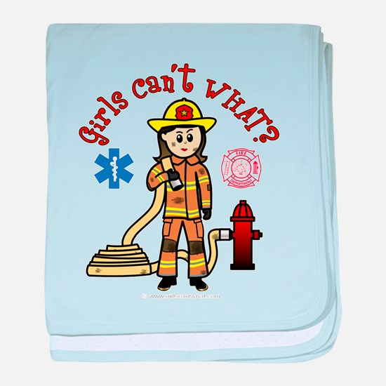 Custom Firefighter baby blanket