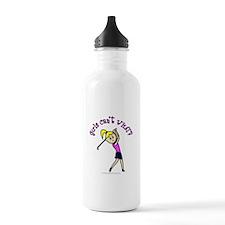 Light Skin Golfer Sports Water Bottle