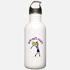 Light Skin Golfer Water Bottle