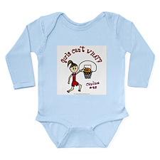 (Candace) Custom Basketball Long Sleeve Infant Bod