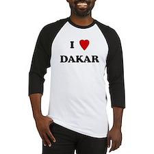 I Love Dakar Baseball Jersey
