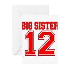 Big Sister 2012 Greeting Cards (Pk of 10)