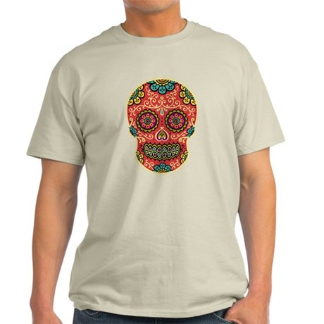Red Sugar Skull Light T-Shirt
