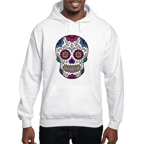 Red Sugar Skull Hooded Sweatshirt