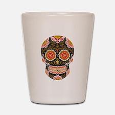 Black Sugar Skull Shot Glass