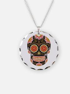 Black Sugar Skull Necklace