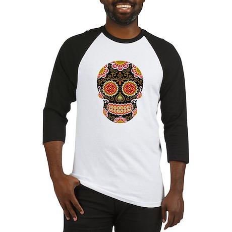 Black Sugar Skull Baseball Jersey