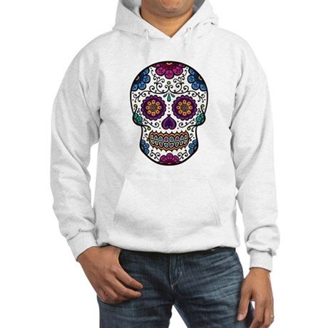 Black Sugar Skull Hooded Sweatshirt