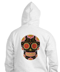 Black Sugar Skull Jumper Hoody