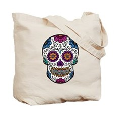 Black Sugar Skull Tote Bag