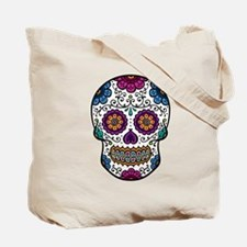 Black Sugar Skull Tote Bag