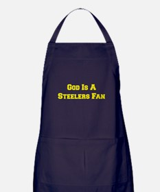 God Is A Steelers Fan Apron (dark)