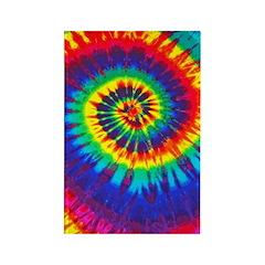 Bright Tie-Dye Rectangle Magnet