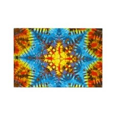 Gold Tie-Dye Rectangle Magnet
