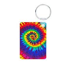 Bright Tie-Dye Keychains