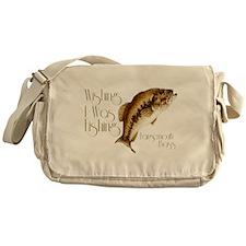 Wishing I Was Fishing Messenger Bag