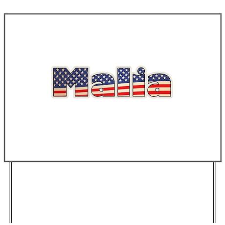 American Malia Yard Sign