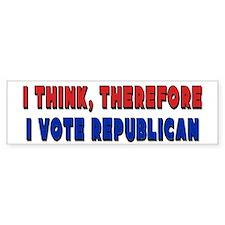 I Vote Republican Bumper Bumper Sticker