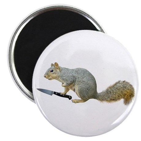 Squirrel with Knife Magnet