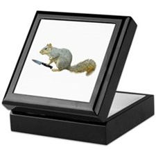 Squirrel with Knife Keepsake Box