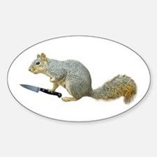 Squirrel with Knife Decal