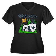 Chase a dream Women's Plus Size V-Neck Dark T-Shir