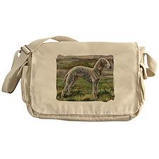 Vintage Bedlington Terrier Messenger Bag