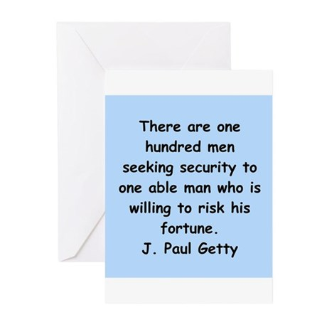 j paul getty Greeting Cards (Pk of 20)
