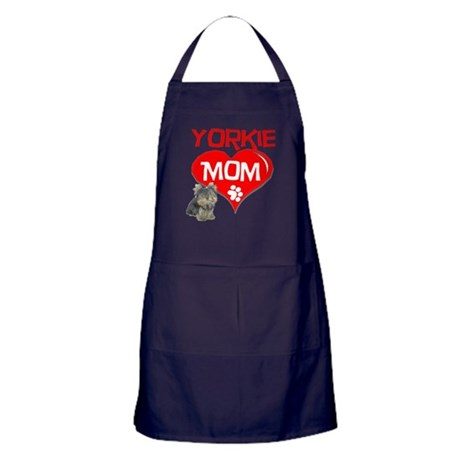Yorkie Mom Apron (dark)