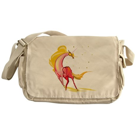 Yellow & Orange Unicorn Messenger Bag