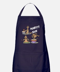 Monkeys Rock Apron (dark)