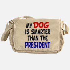 Dog Smarter Than-2 Messenger Bag