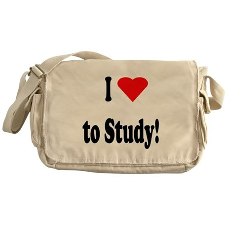 I Heart (Love) to Study Messenger Bag