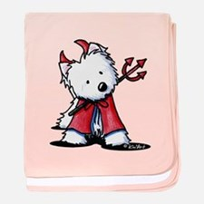 Little Devil Westie baby blanket