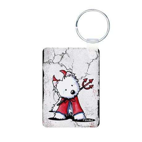 Little Devil Westie Aluminum Photo Keychain